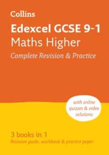 Grade 9-1 GCSE Maths Higher Edexcel All-inOne Complete Revision and Practice (with free flashcard download), Paperback / softback Book