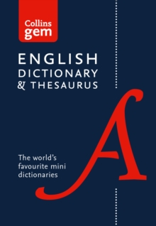 Collins English Dictionary and Thesaurus Gem Edition : Two Books-in-One Mini Format, Paperback Book