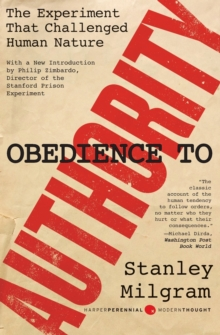 Obedience to Authority : An Experimental View, Paperback Book