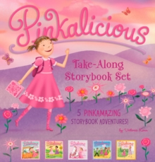 The Pinkalicious Take-Along Storybook Set : Tickled Pink, Pinkalicious and the Pink Drink, Flower Girl, Crazy Hair Day, Pinkalicious and the New Teacher