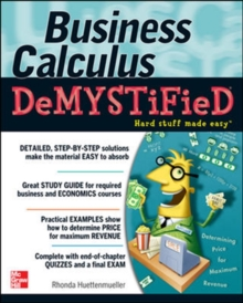 Business Calculus Demystified, Paperback / softback Book