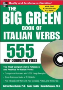 The Big Green Book Of Italian Verbs With Cd-Rom (Set 2), Mixed media product Book
