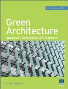 Green Architecture (GreenSource Books), Hardback Book