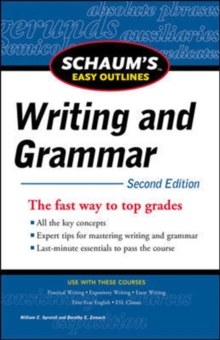 Schaum's Easy Outline of Writing and Grammar, Second Edition, Paperback / softback Book