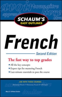 Schaum's Easy Outline of French, Second Edition, Paperback / softback Book