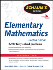 Schaum's Outline of Review of Elementary Mathematics, Paperback / softback Book