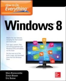 How to Do Everything : Windows 8, Paperback Book