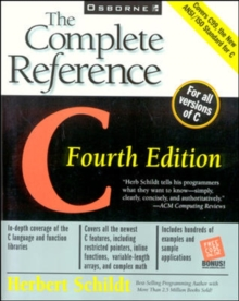 C: The Complete Reference, Paperback Book