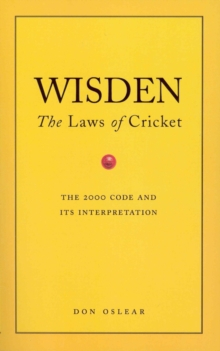 Wisden's The Laws Of Cricket, Paperback Book