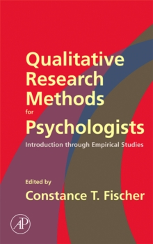 Qualitative Research Methods for Psychologists : Introduction through Empirical Studies, Hardback Book