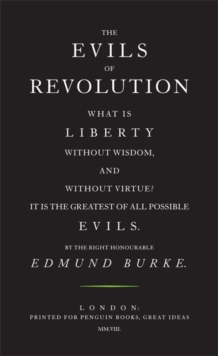 The Evils of Revolution, Paperback Book
