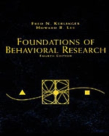 Foundations of Behavioral Research, Paperback Book