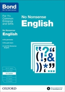 Bond: English: No Nonsense : 8-9 Years, Paperback Book