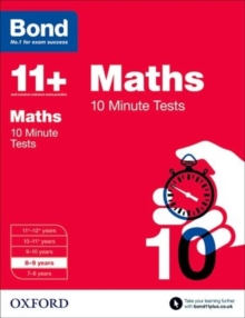 Bond 11+: Maths: 10 Minute Tests : 8-9 Years, Paperback Book