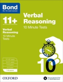 Bond 11+: Verbal Reasoning: 10 Minute Tests : 7-8 Years, Paperback Book