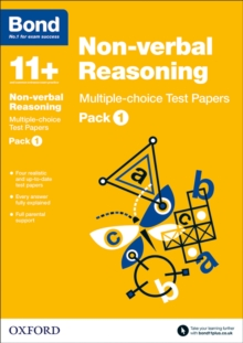 Bond 11+: Non-verbal Reasoning: Multiple-choice Test Papers : Pack 1, Paperback Book