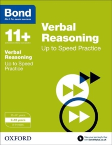 Bond 11+: Verbal Reasoning: Up to Speed Papers : 9-10 years, Paperback / softback Book