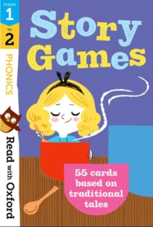 Read with Oxford: Stages 1-2: Phonics Story Games Flashcards, Cards Book