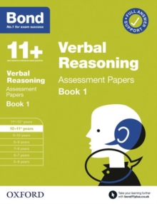 Bond 11+: Bond 11+  Verbal Reasoning Assessment Papers 10-11 years Book 1
