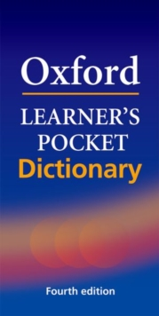 Oxford Learner's Pocket Dictionary : A pocket-sized reference to English vocabulary, Paperback Book