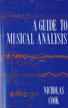 A Guide to Musical Analysis, Paperback Book