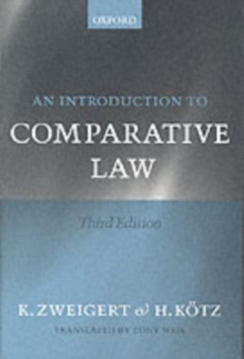 An Introduction to Comparative Law, Paperback / softback Book