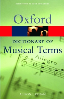 Oxford Dictionary of Musical Terms, Paperback Book