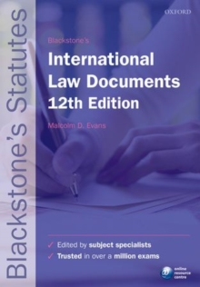 Blackstone's International Law Documents, Paperback Book