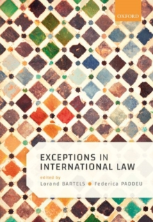 Exceptions in International Law, Hardback Book