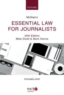 McNae's Essential Law for Journalists, Paperback Book