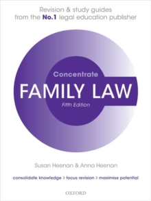 Family Law Concentrate : Law Revision and Study Guide, Paperback / softback Book