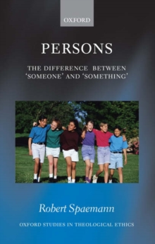 Persons : The Difference between `Someone' and `Something', Hardback Book