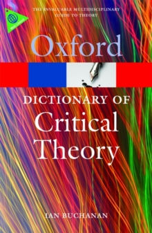 A Dictionary of Critical Theory, Paperback Book