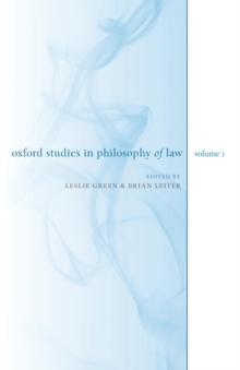 Oxford Studies in Philosophy of Law: Volume 1, Paperback / softback Book