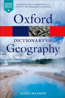 A Dictionary of Geography, Paperback Book