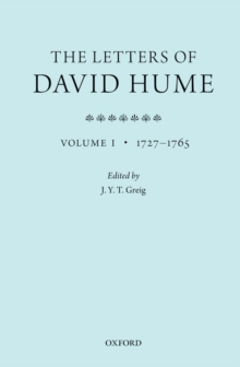 The Letters of David Hume : Volume 1, Paperback / softback Book