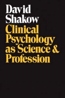 Clinical Psychology as Science and Profession, Paperback / softback Book