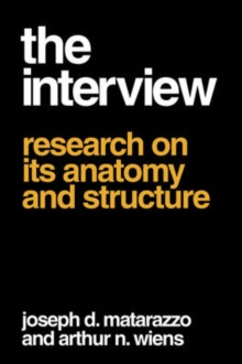 The Interview : Research on Its Anatomy and Structure, Paperback / softback Book