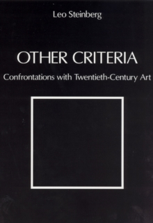 Other Criteria : Confrontations with Twentieth-Century Art