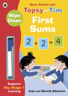 Wipe-Clean First Sums: Start School with Topsy and Tim, Paperback Book