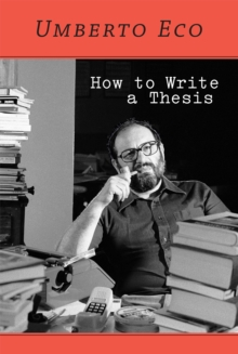 How to Write a Thesis, Paperback Book