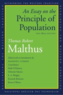 An Essay on the Principle of Population : The 1803 Edition, Paperback / softback Book