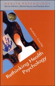 Rethinking Health Psychology, Paperback Book