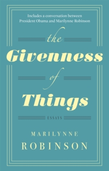 The Givenness of Things, Paperback Book