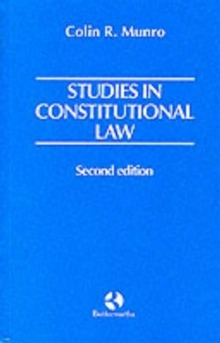 Studies in Constitutional Law, Paperback Book