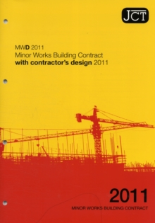 JCT: Minor Works Building Contract with contractor's design 2011, Paperback Book