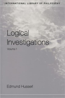 Logical Investigations : v.1, Paperback Book