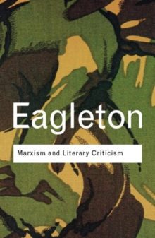 Marxism and Literary Criticism, Paperback Book