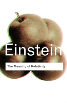 The Meaning of Relativity, Paperback Book
