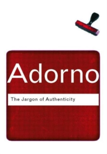 The Jargon of Authenticity, Paperback Book